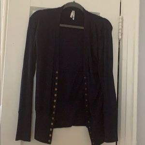 Women navy cardigan   size xl. Fits like a large